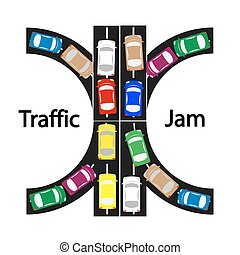 traffic jam symbol ,transprtation concept,car icon