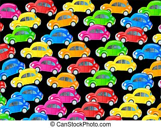 Traffic Jam Wallpaper - Cute cartoon design made up of...