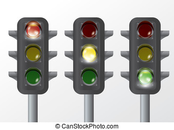 traffic lamp - vector traffic-light