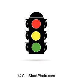 traffic light color vector