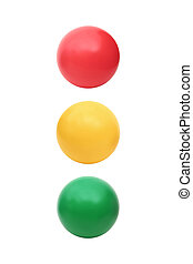 traffic light colors - Three color balls - red, yellow and...