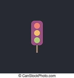 Traffic light computer symbol