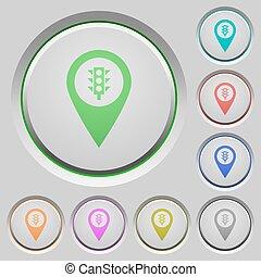 Traffic light GPS map location push buttons