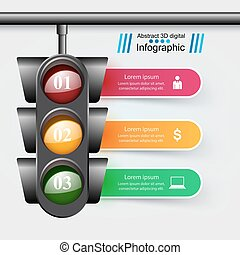 Traffic light icon. Business, travel inofgraphic