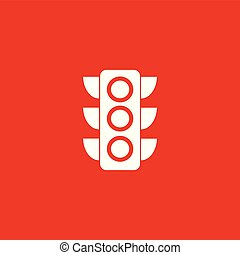 Traffic light icon illustration.