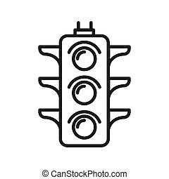 traffic light illustration design