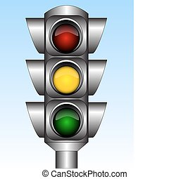 Traffic light - Illustration of the urban traffic light with...