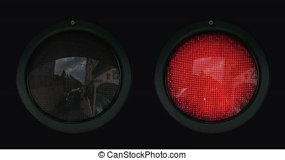 Traffic Light in Normandy, Real Time 4K