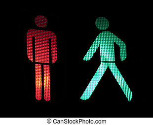 Traffic light of pedestrians