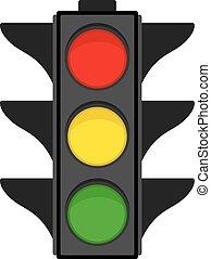 Traffic light on white background, vector illustration