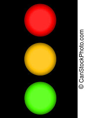 Traffic Light or Stop Light with Red Yellow and Green...