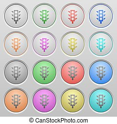 Traffic light plastic sunk buttons