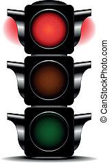 traffic light red - detailed illustration of a traffic light...
