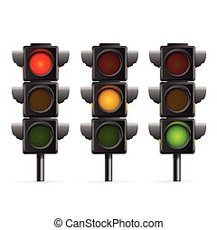Traffic Light Sequence. Vector - Traffic Light Sequence on...