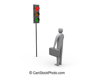 Traffic Light - Business Activity Stopped.