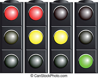 Traffic Light. Variants. - Traffic light. Variants. Vector...