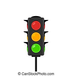 Traffic light vector icon signal. Stoplight isolated ...