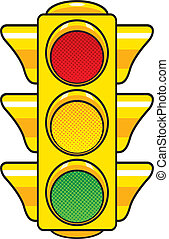Vector illustration of a traffic light.
