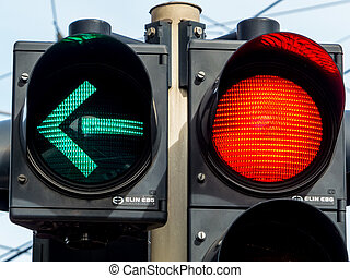 traffic light with red light and green light - a traffic ...