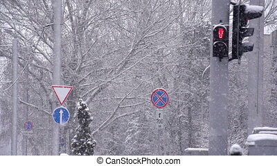 Traffic Lights and Snow