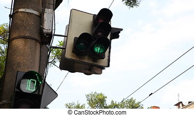 Traffic lights at the crossroads