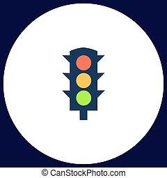 Traffic lights computer symbol
