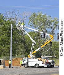 Traffic lights installed 1
