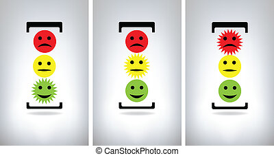 Traffic lights isolated on grey background
