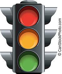Traffic lights over white. EPS 8, AI, JPEG