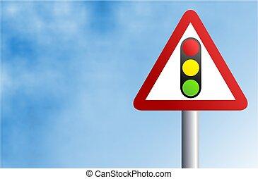 Traffic Lights Sign - Traffic lights ahead.