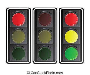 Traffic lights, vector
