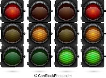 Traffic lights vector template.