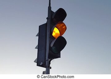 Traffic lights video footage, change of traffic light...