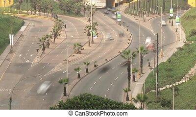 Traffic, Lima, Peru - traffic in Lima, Peru (Between...