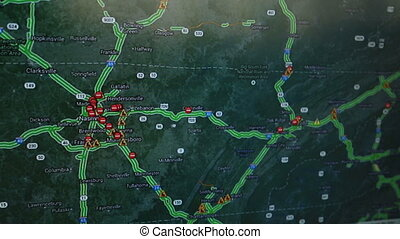 traffic map time lapse