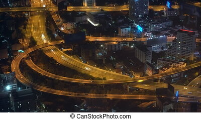 traffic of cars in a big city