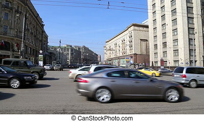 Traffic of cars in Moscow