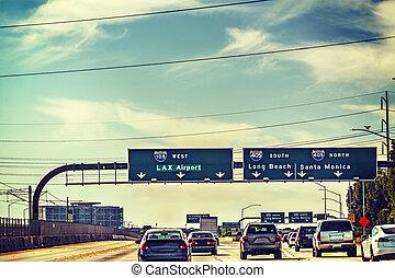 Traffic on 105 freeway westbound