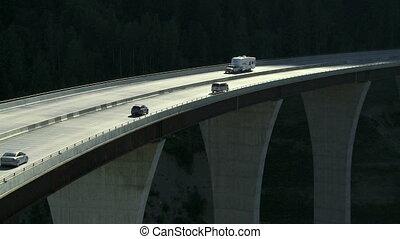 Traffic on high bridge 01