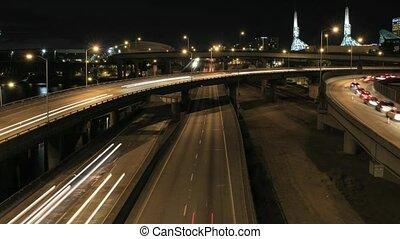 Traffic on Highway Timelapse - Rush Hour Traffic on...