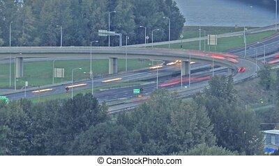 Traffic on Interstate 205 TimeLapse - Evening Rush Hour...