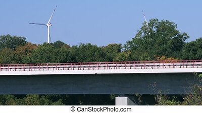 Traffic On Jagsttal Bridge, A6 Autobahn, Germany - Graded...