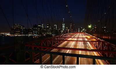 Traffic on the Brooklyn Bridge