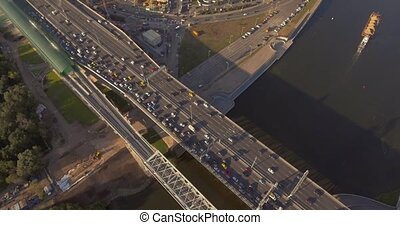 Traffic on the Moscow ring road