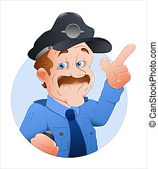 Traffic Police Officer Vector - Creative Conceptual Design...