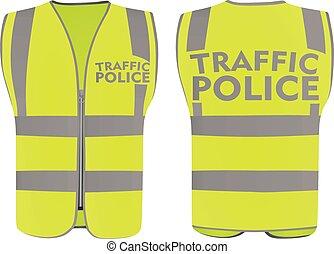 Traffic police safety vest