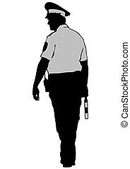 Traffic policeman on road - People of special police force ...