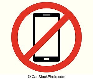 Traffic prohibition sign for Smartphones