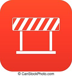 Traffic prohibition sign icon digital red