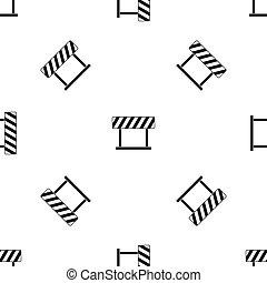 Traffic prohibition sign pattern seamless black